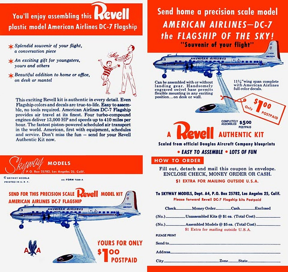 Revell DC-7 Ad - Skyway Models