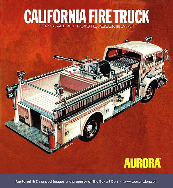 Aurora California Fire Truck '70's