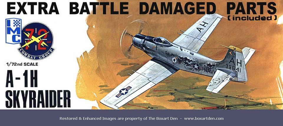 IMC A-1 Skyraider Battle Damage