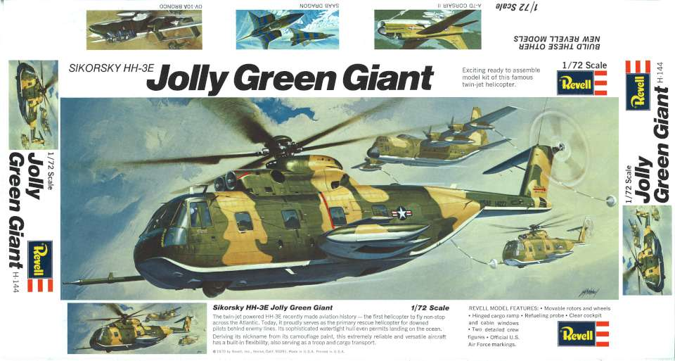 Revell Sikorsky HH-3E Jolly Green Giant 1970