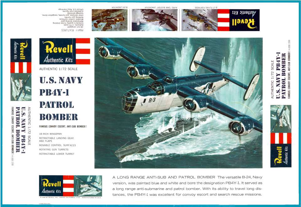 Revell Consolidated PB4Y-1 1965