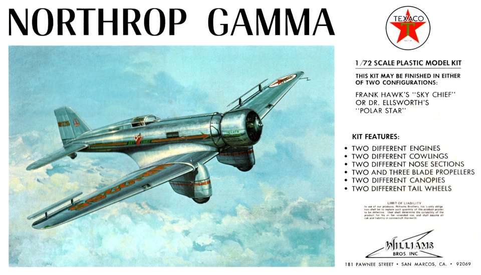 Williams Brothers Northrop Gamma