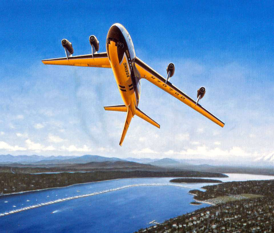 Boeing 367-80 (707) 1955 barrel roll by Mike Machat-960