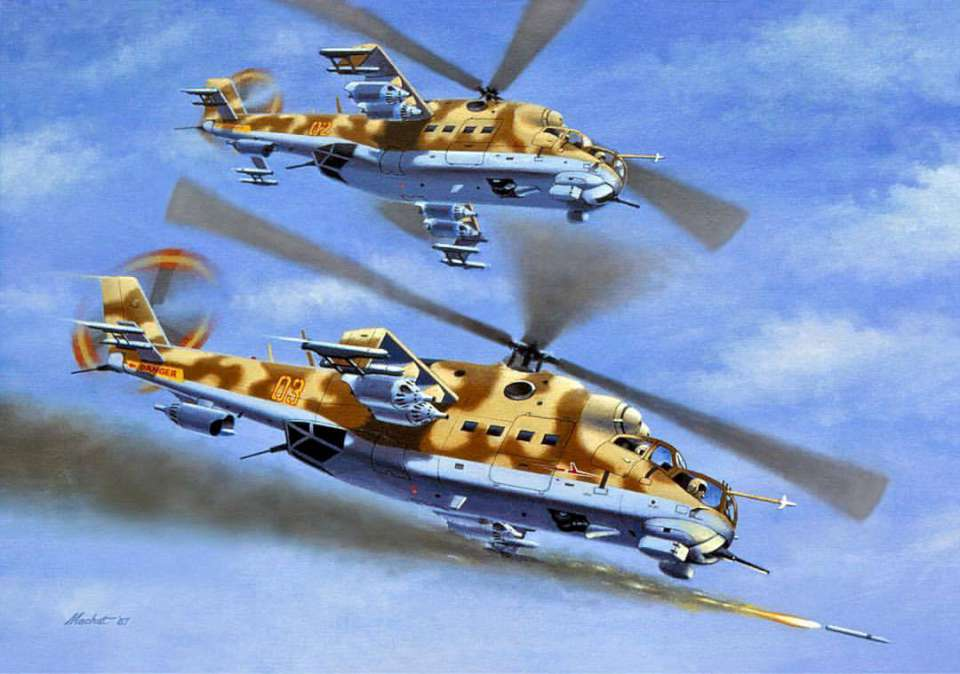 Mil Mi-24 Hinds by Mike Machat-960