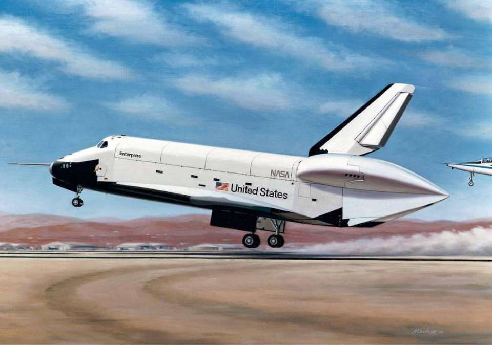 Rockwell Space Shuttle Enterprise landing by Mike Machat-960
