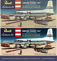 Revell DC-7 United Before & After