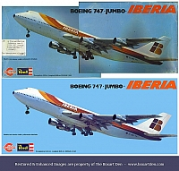 Revell Iberia 747 Before & After
