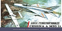 Airfix Cessna and MIG 21 T3