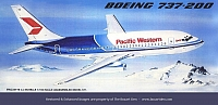M&B Maquettes 737 Pacific Western