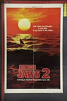 JL MOVIE Jaws 2 advance teaser suspense horror thriller rare original movie poster-960
