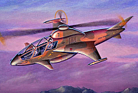 Adavanced Attack Helicopter concept by Mike Machat 1989-960