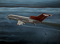 Boeing 727 with DB Cooper bailing out by Mike Machat-960