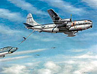Boeing KC-97 refuels B-47 by Mike Machat-960