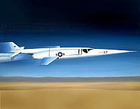 Douglas X-3 Stiletto in flight by Mike Machat-960