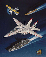 Grumman F-14 Tomcat & Boeing F4B-1 by Mike Machat-960