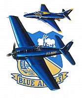 MD A-4 Skyhawk & Grumman F6F Blue Angels 35th 1981 by Mike Machat-960