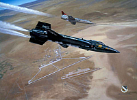NAA X-15 & Lockheed F-104 high key-960