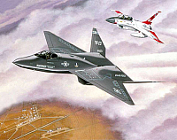 Northrop YF-23 Black Widow II & F-16 chase by Mike Machat-960
