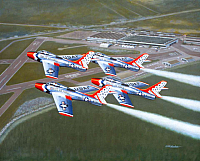 Republic F-84 hunderstreak T-Birds 1955-960